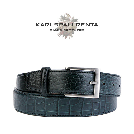 -K.S- 83835 italy real leather 크로커 리얼태닝 클래식 벨트 (Green)