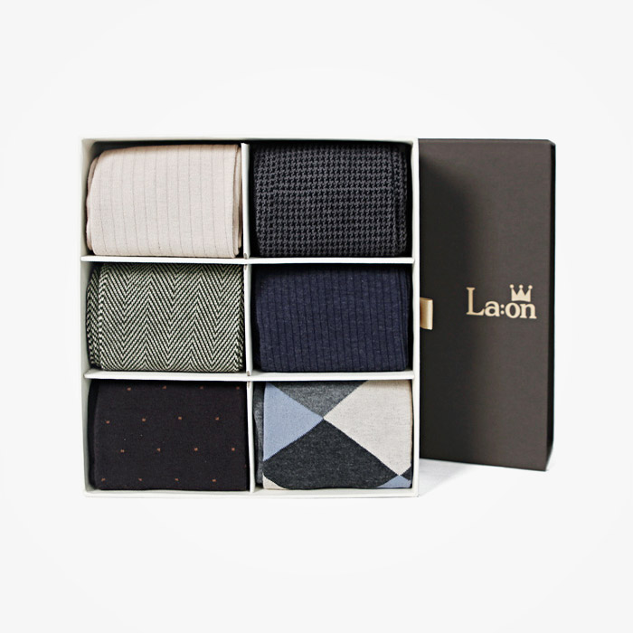 -La:on-92466 Socks Gift Set (3Type)