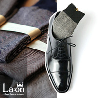 -La:on-83849 Classic Herringbone Socks (4Color)