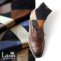 -La:on-83850 Original Argyle Socks (6Color)