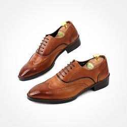 85211 HM-KS026 Shoes (Tan Brown)