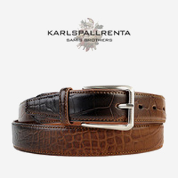 -K.S- 88777 italy real leather 크로커다일 리얼태닝 캐쥬얼 벨트 (Brown)